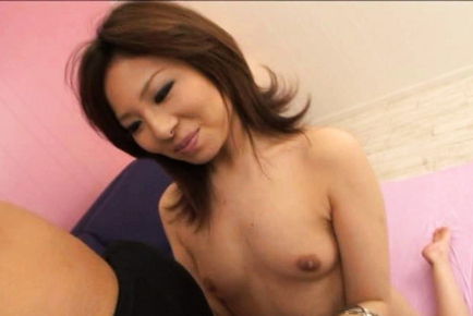 Amu Kosaka gets naked in front of the camera for the world to see. Teen porn gallery. Young porn newbie Amu Kosaka