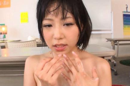 Kokoro Kawai Asian with bee stings gets money shot after sucking schlong. Teen porn gallery. Young porn newbie Kokoro Kawai