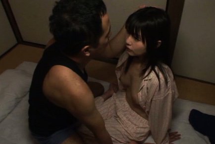 Tsubomi Asian girl has juicy cans out of pyjama and sucked by he. Teen porn gallery. Young porn newbie Tsubomi