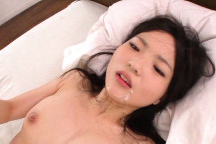 Ichigo tominaga. Ichigo Tominaga Asian with round cans and long socks gets cumshot