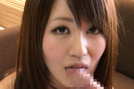 Japanese av model. Japanese AV Model smiles while exposing nasty