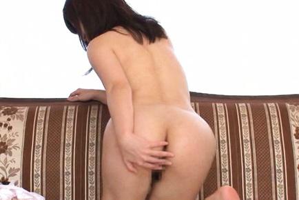 Eichi hoshikawa. Babe Eichi Hoshikawa poses with naked anal in