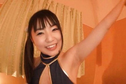 Tsubomi. Tsubomi Asian doll pours in palms sperm she