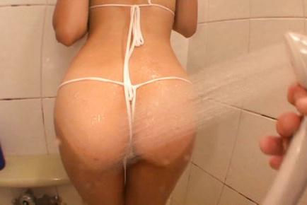 Japanese av model. Jp AV Model plays with hot shower so freaking erotic