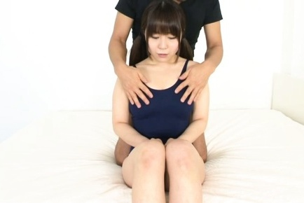 Honoka minami. Honoka Minami Asian gets fingers in mouth and has cans fondled
