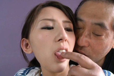 Rumi Kamida is tied in ropes and has tongue licked by male. Teen porn gallery. Young porn newbie Rumi Kamida