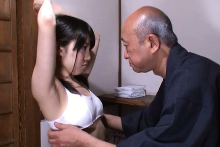 Marin aono. Marin Aono Asian is undressed and has breasts revealed after lunch